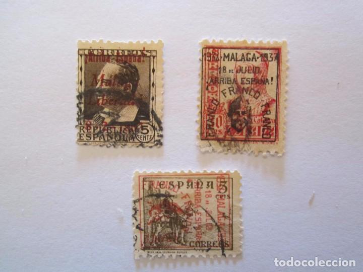 SELLOS BENEFICENCIA MALAGA REPUBLICA (Sellos - España - Guerra Civil - Beneficencia)