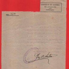 Sellos: BARCELONA, CONSEJO DE GUERRA DE AVIACION, AÑO 1940, VER FOTO. Lote 71713647