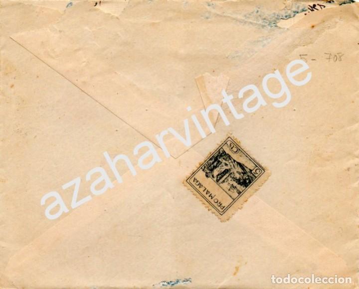 Sellos: SOBRE CON SELLO PRO MÁLAGA 1938 CON CENSURA MILITAR , VER IMAGENES - Foto 2 - 72760611