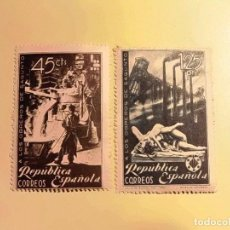 Sellos: 1938 - HOMENAJE A LOS OBREROS DE SAGUNTO - EDIFIL 773-774 . Lote 73055255