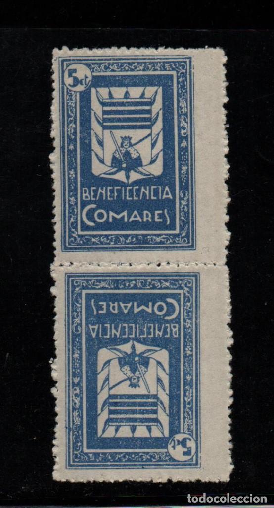 COMARES, 5 CTS, -PAREJA CAPICUA- VER FOTO (Sellos - España - Guerra Civil - De 1.936 a 1.939 - Usados)