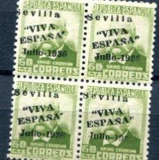 Sellos: EDIFIL 29 DE LOCALES PATRIÓTICOS DE SEVILLA. 60 CTS DE PERSONAJES, BLOQUE 4. NUEVO SIN FIJASELLOS.. Lote 73709895
