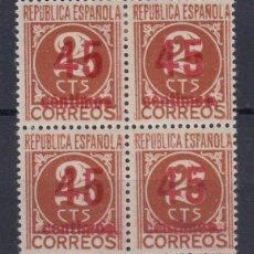 Sellos: 0061 EDIFIL Nº 744- HCCA BLOQUE DE CUATRO CON CHARNELA. Lote 74073383