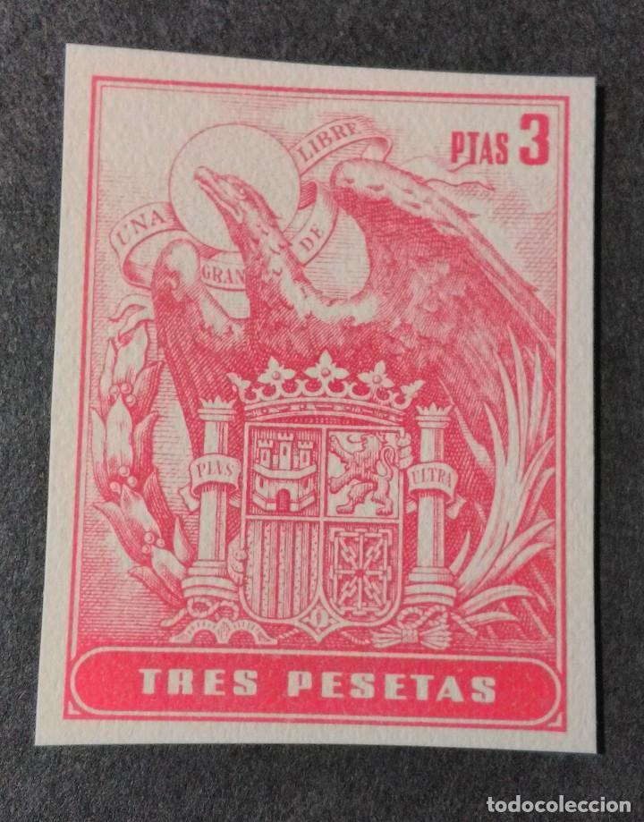 SELLO/TIMBRE. FISCAL DE 3 PTAS. (Sellos - España - Guerra Civil - Viñetas - Usados)