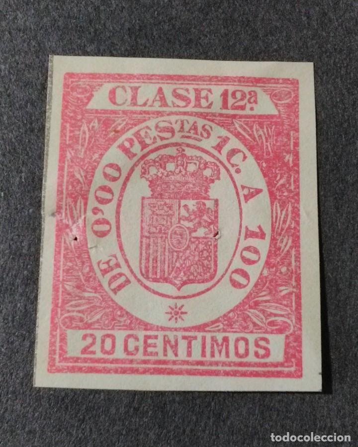 SELLO/TIMBRE. FISCAL DE CLASE 12. 20 CTS. (Sellos - España - Guerra Civil - Viñetas - Usados)