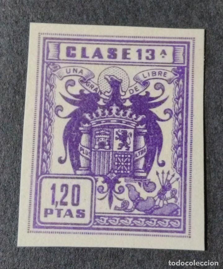 SELLO/TIMBRE. FISCAL DE CLASE 13. 1,20 PTS. (Sellos - España - Guerra Civil - Viñetas - Usados)