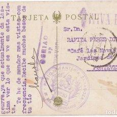 Sellos: BONITA POSTAL DE OVIEDO. CON FRANQUICIA DEL REGIMIENTO Y CENSURA MILITAR. ASTURIAS. 1937. Lote 75110791