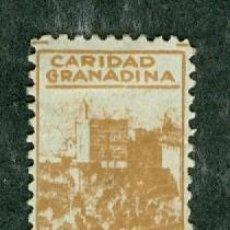 Sellos: SELLO CARIDAD GRANADINA 10 CTS GUERRA CIVIL. Lote 75814047