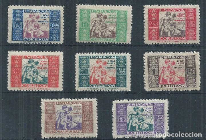R12/ ESPAÑA NUEVOS ** , 1934, BENEFICIENCIA, EDF. 1/8, CAT. 44,00€, ALEGORIA INFANTIL (Sellos - España - Guerra Civil - Beneficencia)