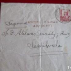 Sellos: FRONTAL ALAR DEL REY PALENCIA A SEPULVEDA SEGOVIA. GUERRA CIVIL CENSURA HISTORIA POSTAL. Lote 75917911