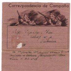Sellos: CARTA ILUSTRADA 1938 SANIDAD VALENCIA - GUERRA CIVIL CORRESPONDENCIA DE CAMPAÑA. Lote 76094691