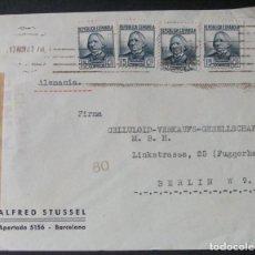 Sellos: SOBRE CON MEMBRETE -ALFRED STUSSEL (BARCELONA)- CENSURA REPUBLICANA. Lote 76185995