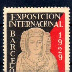 Sellos: VIÑETA EXPOSICION INTERNACIONAL BARCELONA 1929 - EL ARTE EN ESPAÑA - NUEVO**. Lote 76282479