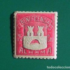 Sellos: SELLO BENEFICENCIA 25 CTS - ALHAMA DE ARAGÓN -SIN CIRCULAR. Lote 108049916