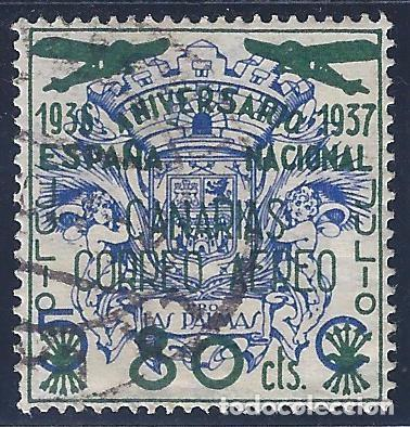 PRO LAS PALMAS. SOBRECARGADO ESPAÑA NACIONAL 1936-1937. (Sellos - España - Guerra Civil - Locales - Usados)