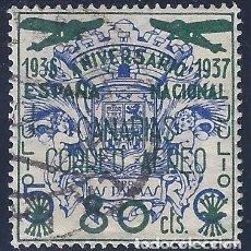 Sellos: PRO LAS PALMAS. SOBRECARGADO ESPAÑA NACIONAL 1936-1937.. Lote 76885491