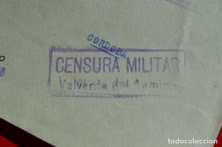Sellos: FRONTAL MATASELLO VALVERDE DEL CAMINO HUELVA A CORDOBA HISTORIA POSTAL MARCA CENSURA CENSURADA - Foto 2 - 77610157