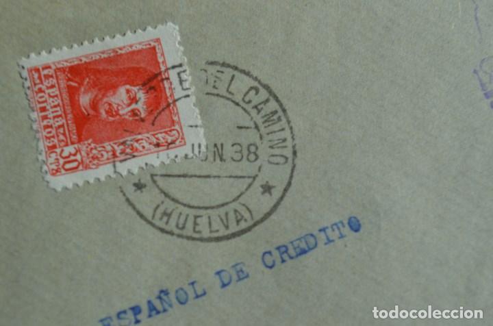 Sellos: FRONTAL MATASELLO VALVERDE DEL CAMINO HUELVA A CORDOBA HISTORIA POSTAL MARCA CENSURA CENSURADA - Foto 3 - 77610157