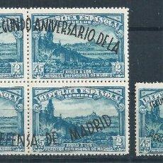 Sellos: R12.G2/ ESPAÑA NUEVOS ** 1938, EDF. 789/90, CAT. 50,00€, II ANIV. DEFENSA DE MADRID. Lote 78134933