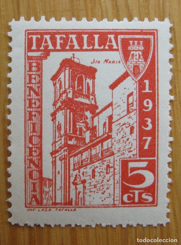 TAFALLA , 5 CENTIMOS . SELLO NUEVO ** (Sellos - España - Guerra Civil - De 1.936 a 1.939 - Nuevos)