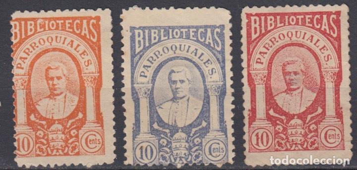 WP484 ESPAÑA VIÑETA BIBLIOTECAS PARROQUIALES RELIGIÓN (Sellos - España - Guerra Civil - Viñetas - Nuevos)