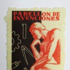 Sellos: ZARAGOZA, 1967. VIÑETA XVII FERIA DE MUESTRAS. PABELLON DE INVENCIONES. LOTE 0013. Lote 79101969