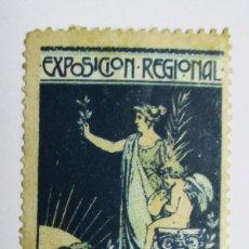 Sellos: VALENCIA, 1909. VIÑETA DE LA EXPOSICION REGIONAL VALENCIANA. LOTE 0014. Lote 79102309