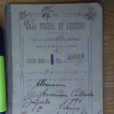 Sellos: CARTILLA AÑO 1925 COMPLETA CON 22 SELLOS FISCALES CAJA POSTAL,HAYVARIOS TIPOS CORONA REAL,CORONA. Lote 79102585