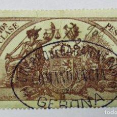 Sellos: GERONA, 1908. POLIZA O VIÑETA MILITAR, CUERPO DE CARABINEROS - COMANDANCIA - GERONA. LOTE 0018. Lote 79229417