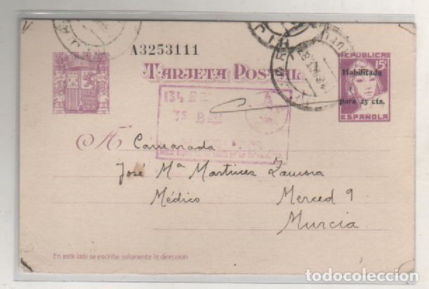 ENTERO POSTAL REPUBLICA ESPAÑOLA 134 BATALLON 3ª BRIGADA CENSURA. ALCAÑIZ 14/10/1937 (Sellos - España - Guerra Civil - De 1.936 a 1.939 - Usados)