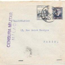 Sellos: GUERRA CIVIL 1937. SOBRECARGA PATRIOTICA MALAGA LIBERADA. EDIFIL 688. A PARIS POR GIBRALTAR. Lote 79530033