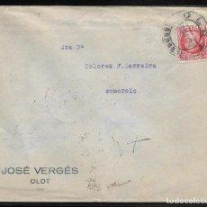 Sellos: EDIFIL 687. SOBRE DE OLOT A LUGO. 30-MAY-1936. AL DORSO LLEGADA.. Lote 79543313