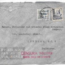 Sellos: CORREO AEREO CANARIAS 1938. SOBRE CIRCULADO DE SANTA CRUZ DE TENERIFE A LONDRES. Lote 79548429