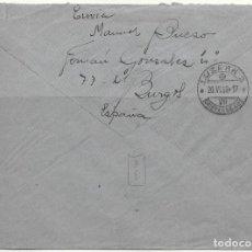 Sellos: GUERRA CIVIL. EDIFIL 816 + 817 + 822 + 844A. 1938. CERTIFICADO CIRCULADO DESDE BURGOS A LUCERNA. Lote 79575625
