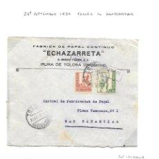 Sellos: GUERRA CIVIL 1937. EDIFIL 830 + CRUZADA CONTRA EL FRIO Nº 11. DE TOLOSA A SAN SEBASTIAN. Lote 79578441