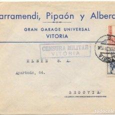 Sellos: CRUZADA CONTRA EL FRIO Nº 9. DE VITORIA A SEGOVIA. GUERRA CIVIL. 1937. Lote 79578513