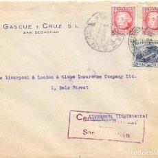 Sellos: CRUZADA CONTRA EL FRIO Nº 7. DE SAN SEBASTIAN A LIVERPOOL. GUERRA CIVIL.. Lote 79578665