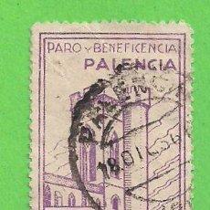 Sellos: BENEFICENCIA - PALENCIA - PARO Y BENEFICENCIA. (1936).. Lote 79615829