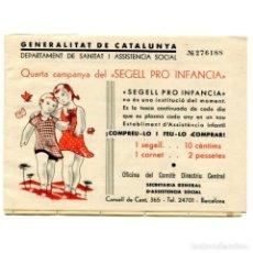 Sellos: SEGELL PRO INFANCIA 1936/1937, 5C, CARNET, DOMENECH 1471, ** INCOMPLETO. Lote 80869203