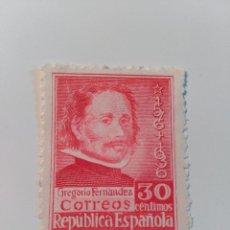 Sellos: NUEVO **. AÑO 1937. EDIFIL 726. III CENT DE LA MUERTE DE GREGORIO FERNÁNDEZ.. Lote 81656128
