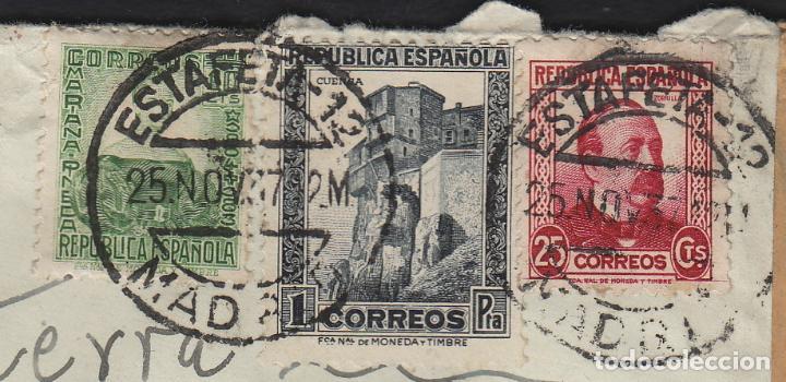 Sellos: carta 1937 CENSURA de MADRID A LONDRES . CORREO AÉREO POR AVIÓN - Foto 3 - 81299708