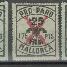 Sellos: MALLORCA. PRO PARO .G,CIVIL.SELLO LOCAL. 5 VARIEDADES. 1,75 PTAS SOBRECARGA 25 PTAS**, MNH( 17-597). Lote 89724462