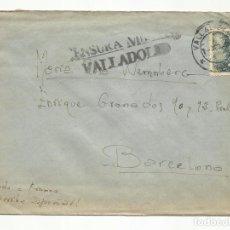 Sellos: CIRCULADA 1939 CON CENSURA MILITAR DE VALLADOLID A BARCELONA. Lote 82087488