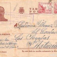 Sellos: 1941.- TARJETA POSTAL DE LA CÁRCEL DE ASTORGA. MARCA ESPECIAL DE CENSURA. Lote 82835204