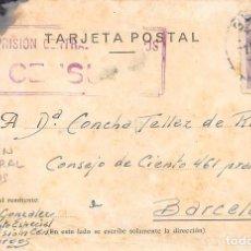 Sellos: 1943.-TARJETA POSTAL REMITIDA DE LA CÁRCEL PRISIÓN DE BURGOS. MARCA ESPECIAL DE CENSURA.. Lote 82835512