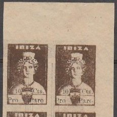 Sellos: IBIZA.( ISLAS BALEARES) GUERRA CIVIL.SELLOS LOCALES. 1936. DIOSA TANIT. 10 CENT. S/D **.MNH (16-614). Lote 83299108