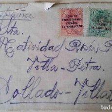 Sellos: SOBRE ALFONSO XIII 5CS Y 10CS PROTECTORADO ESPAÑOL MARRUECOS.. Lote 84494212