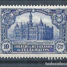 Sellos: R43.G2/ ESPAÑA ** MNH, HUERFANOS TELEGRAFOS. Lote 135587373