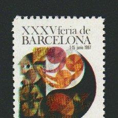 Sellos: VIÑETA.XXXV FERIA DE BARCELONA.AÑO 1967.. Lote 84696748