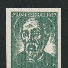 Sellos: VIÑETA RELIGIOSA.MONTSERRAT.AÑO 1947.. Lote 84698244